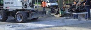 Aanleg verkeersdrempel